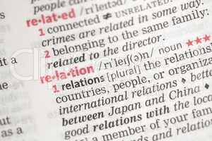 Relation definition