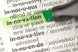 Innovation definition highlighted in green