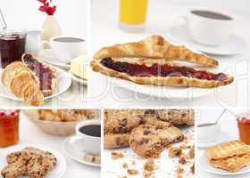 Pictures representing breakfast