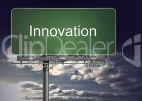 Signpost with innovation