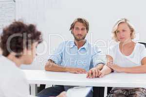 Therapist trying to help a couple