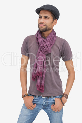 Stylish young man wearing accessories
