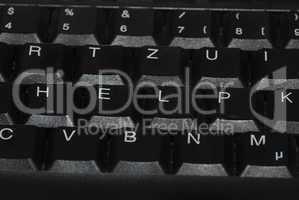 tastatur mit wort help
