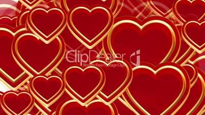 100 flying love hearts, wedding animation, valentines day, alpha matte