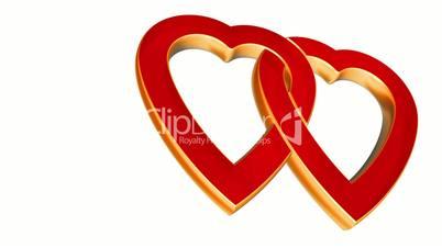 Transparent flying love hearts, wedding animation, valentines day, alpha matte