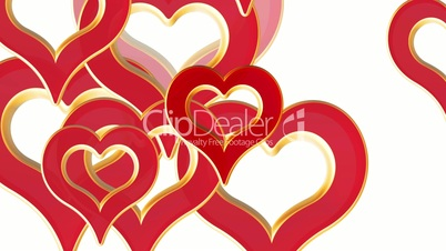 Flying hearts, wedding background, valentines day, red love hearts, alpha matte