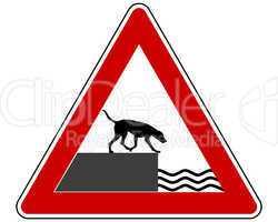 achtung ufer für hunde