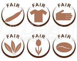 symbole und produkte im fairen handel