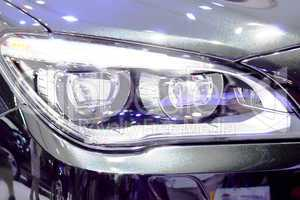 Headlight Luxury Sports Car