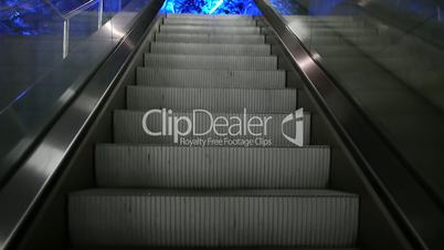 Escalator - upstairs to the blue