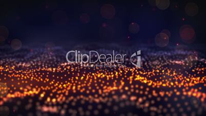 glow particle field loop