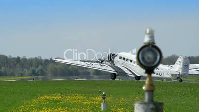 historic airplane Junkers JU 52 rolling start position 10912