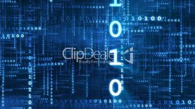 Data Stream Blue