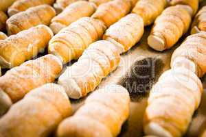 Puff pastries filled with whipped cream