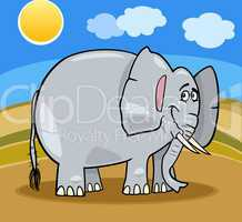african elephant cartoon illustration