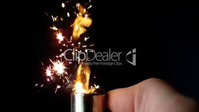 Man lighting up a lighter
