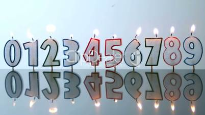 Number candles blowing out in numerical order