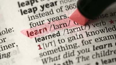 Definition of learn