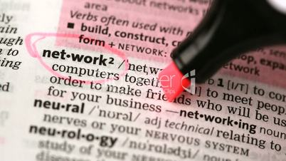Definition of network and networking