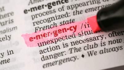 Definition of emergency