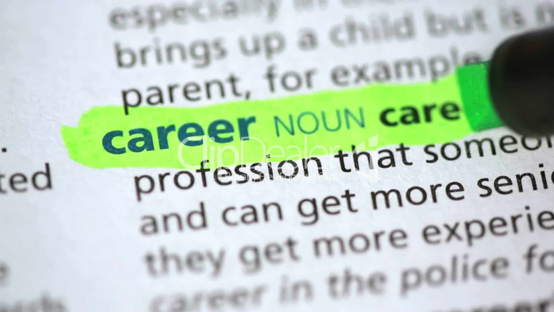 definition of career royalty video and stock footage career middot definition