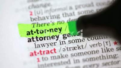 Definition of attorney