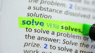 Definition of solve