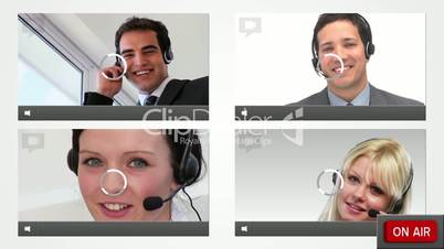 Live chat with customer service agents