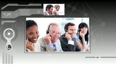 Interface depicting call centre situations