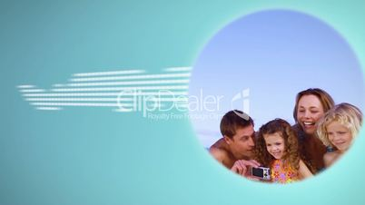 Montage of family clip during summer holidays