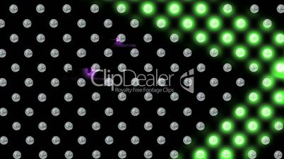 Visualiser style video with light bulbs
