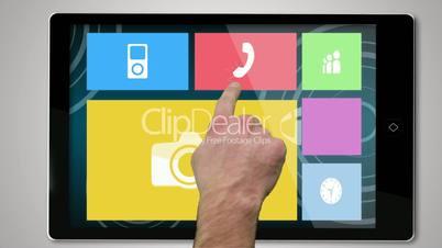 Leisure montage on digital tablet
