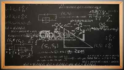 Maths appearing on chalkboard