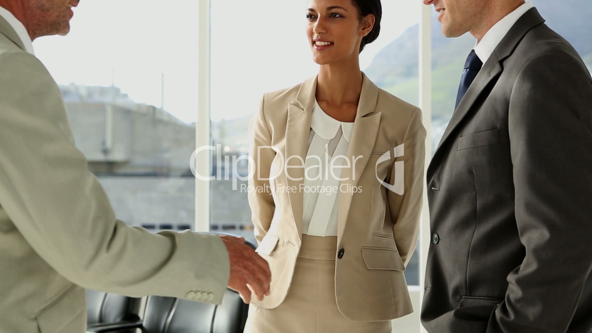 Business People Meeting And Greeting Royalty Free Video And Stock