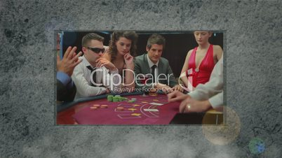 Animation of people in casino