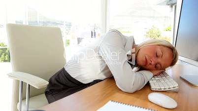 Businesswoman having a nap
