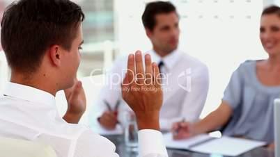 Man having a job interview