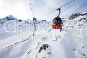 Cable car going to Kitzsteinhorn peak