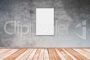 Betonwand mit Bild 2:3 Hochformat - Concrete Wall with Picture 2
