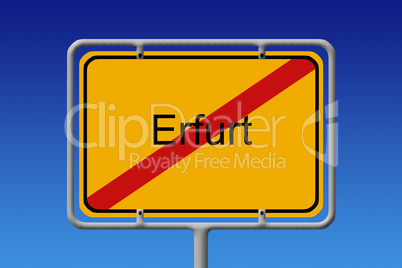 Ortsschild Ortsausgang Erfurt - City Sign City Limit Erfurt