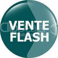 vente flash button icon