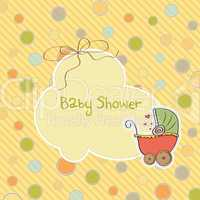 delicate baby shower card
