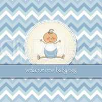delicate baby boy shower card