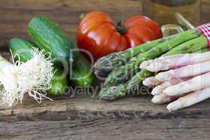 Neues Gemüse vom Markt