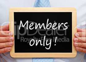 Members only !