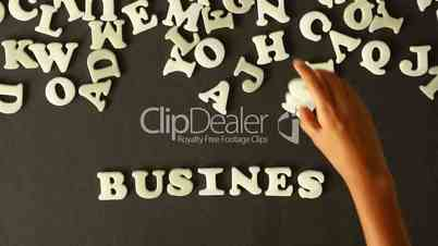 Business Word out of Plastic Letters