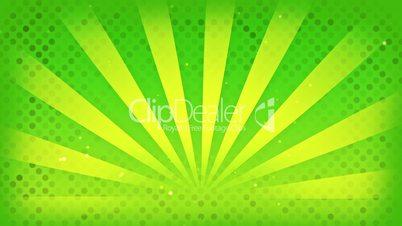 bright green rays loop