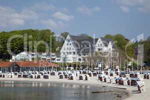 Strand in Glücksburg, Schleswig-Holstein