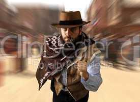 Gunman runs in the far west