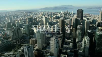 Aerial view of San Francisco city, North America USA